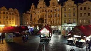 Prague night market