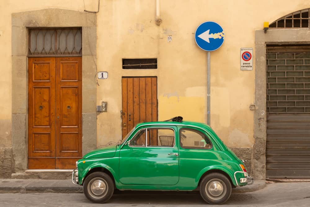 don't book your car in italy in a small town