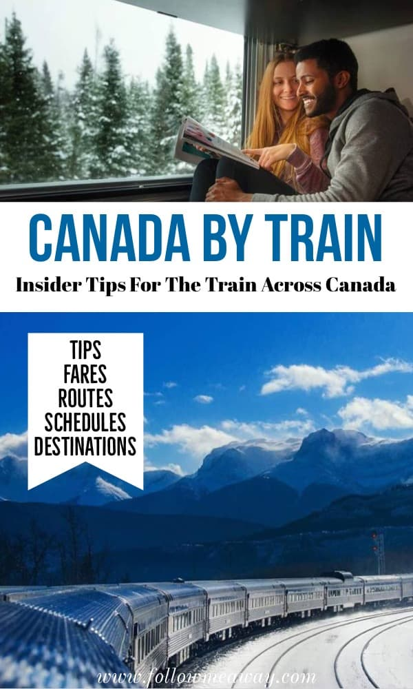 Canada by train: insider tips for the train across canada | how to see Canada by train | what to know before the train trip across canada | Via rail Canada train | canadian train trips | best things to do in Canada #canada
