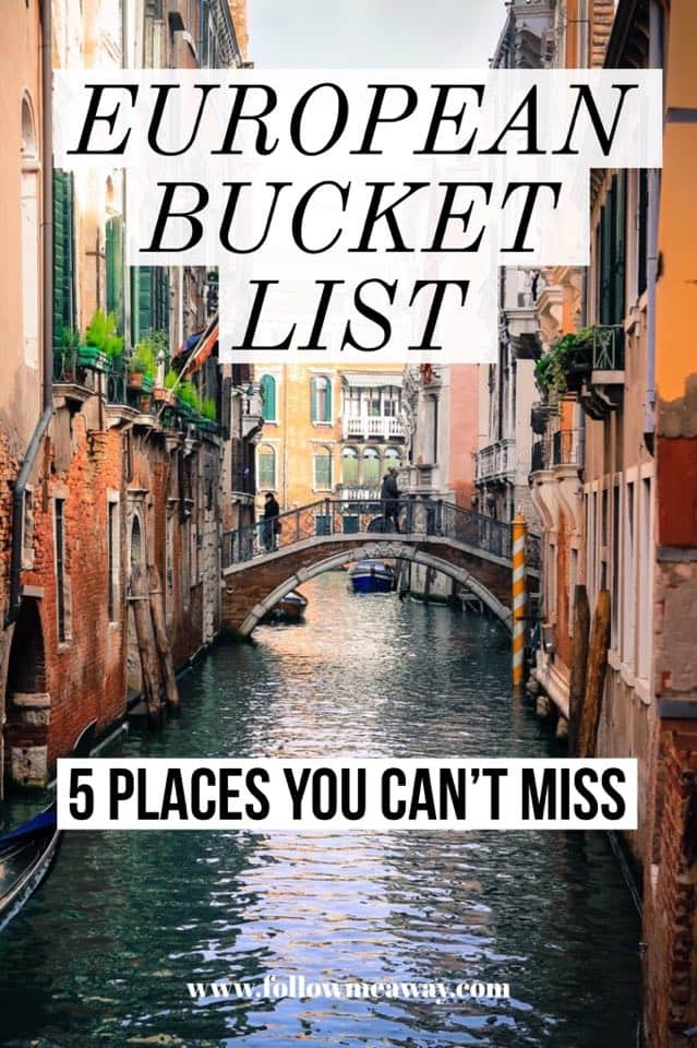 5 Places In Europe That Should be on Your Bucket List | Best europe travel destinations | bucket list european destinations | where to travel in Europe | european travel tips | cheap cities to travel in Europe | how to travel europe on a budget | where to travel in europe on your first trip