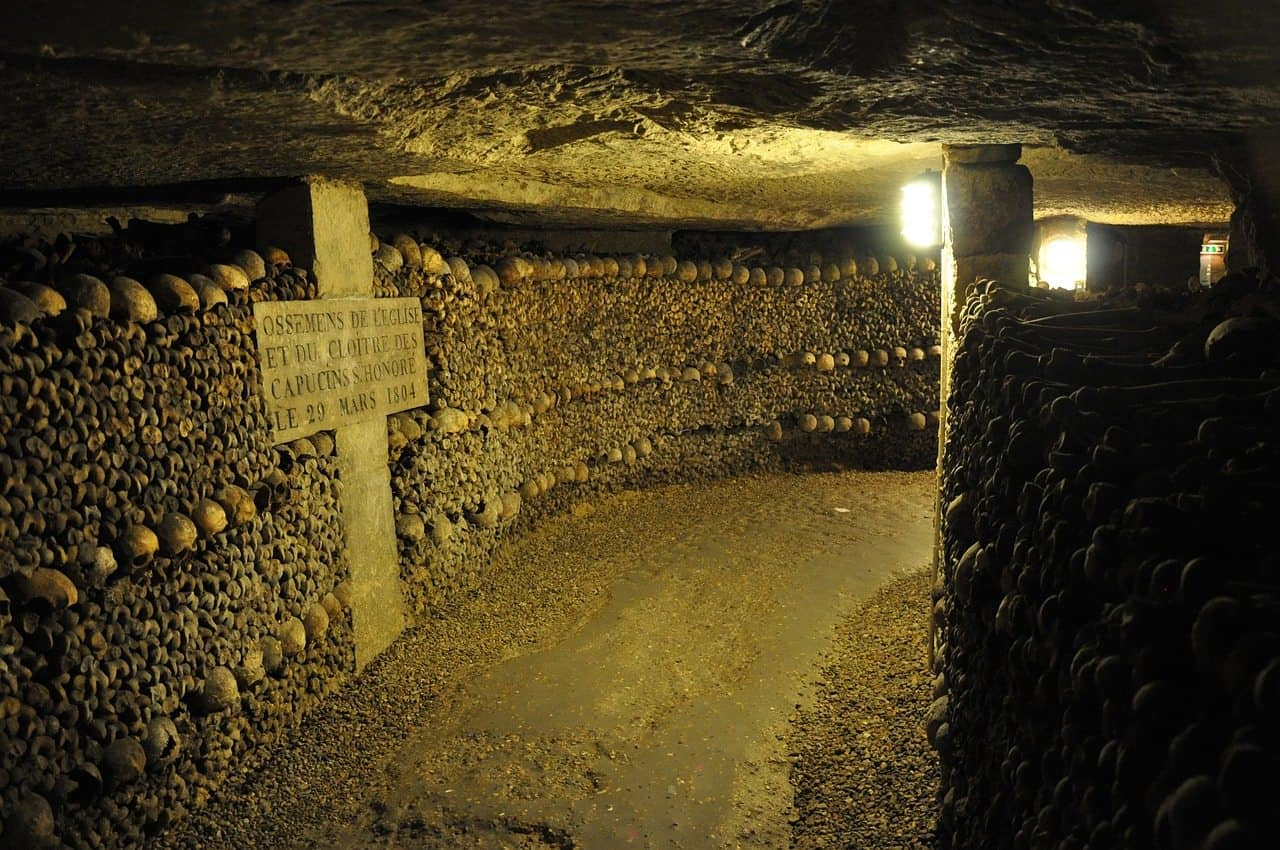 during paris in winter visit the catacombs