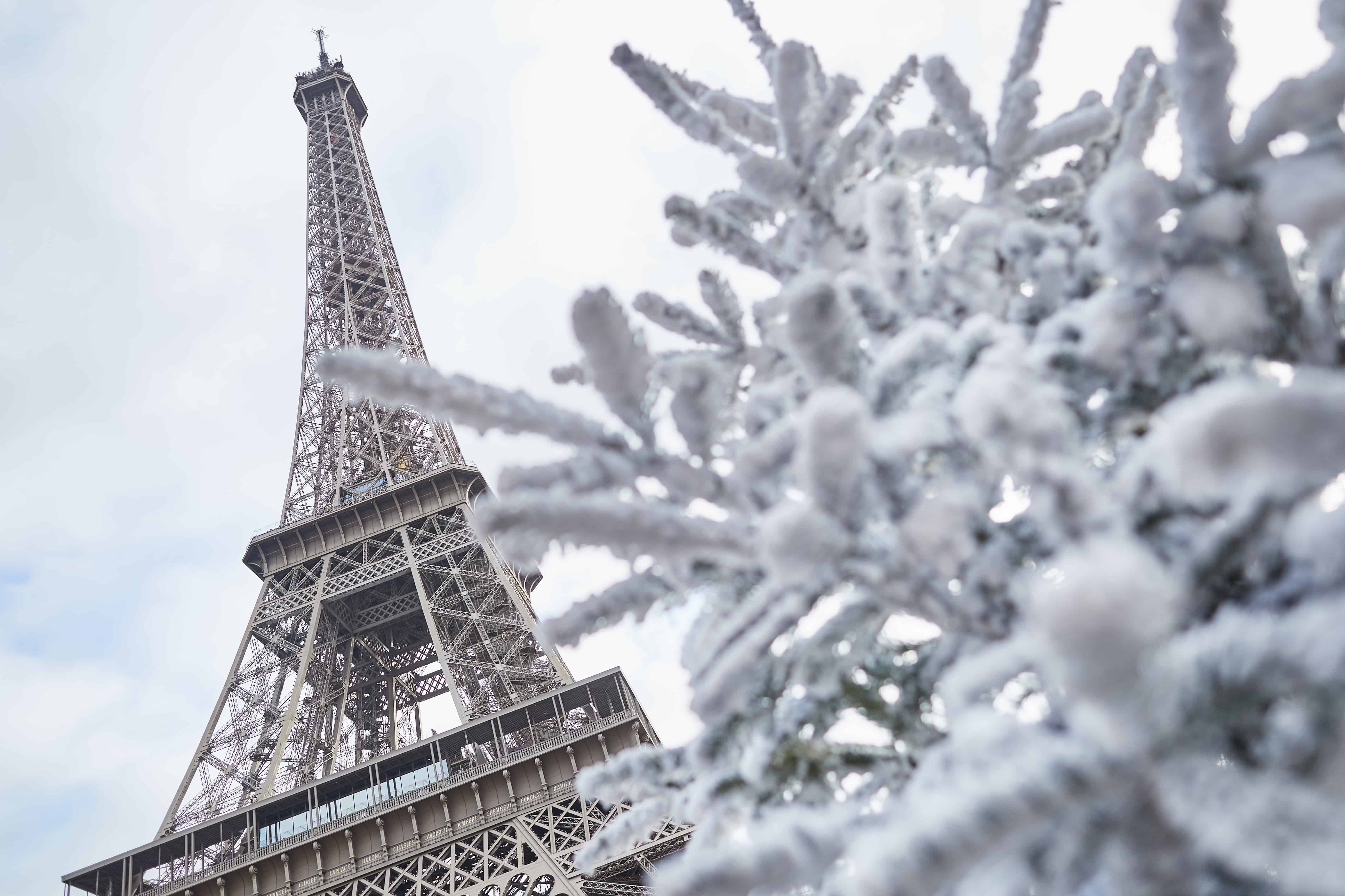 the weather is perfect for christmas in paris