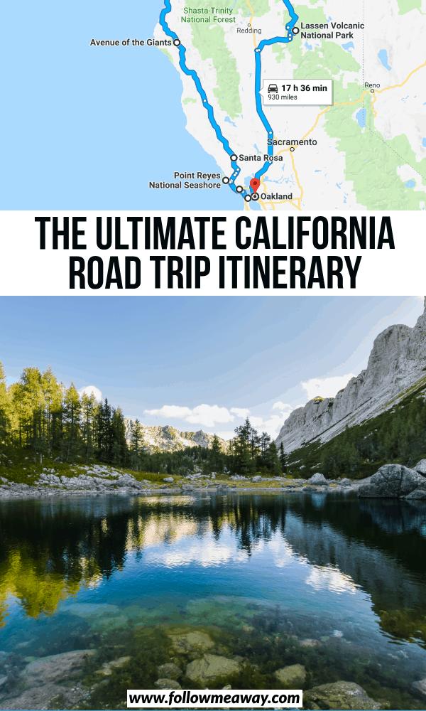 ultimate california road rip itinerary