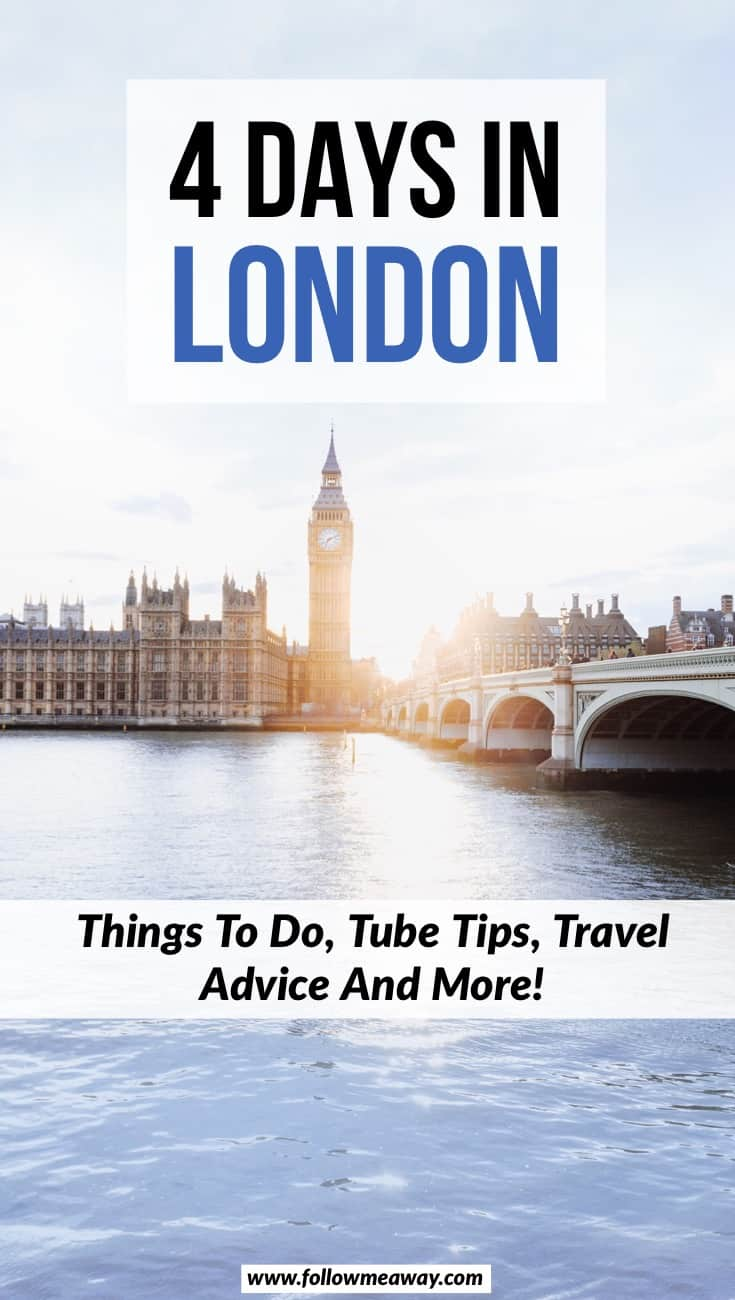 The Best 4 Day London Itinerary For First Time Visitors | Things to do in London | London travel tips | london itinerary in 4 days | london in 4 days | long weekend in london | london travel tips on your first visit #london #travel #england