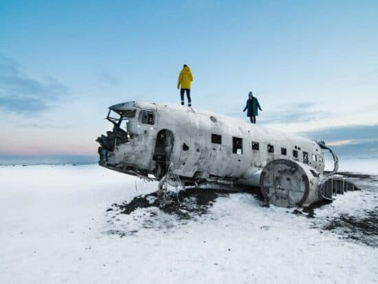 Visit the plane wreck for best things to do in iceland in winter
