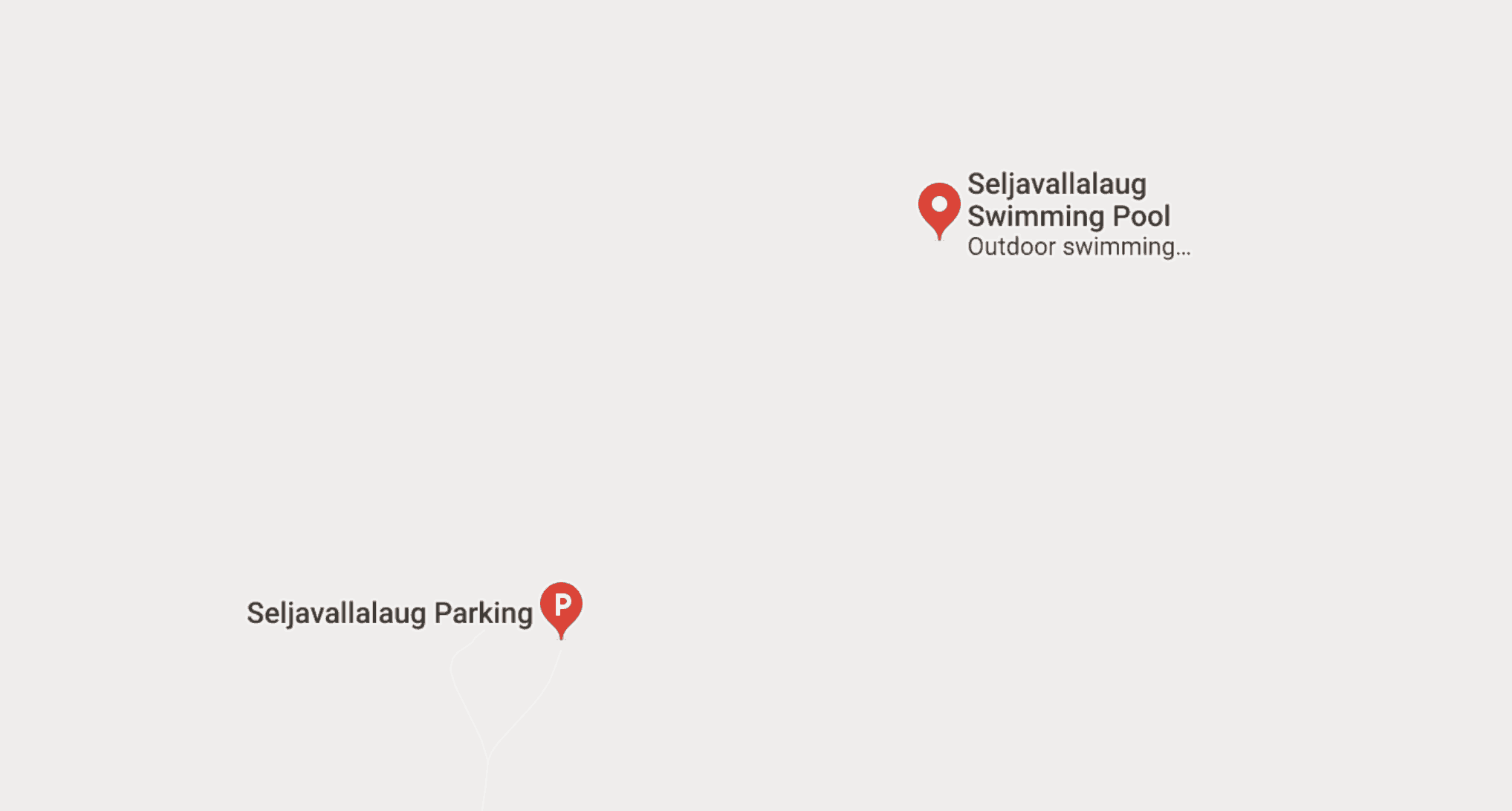 Map of how to get to Seljavallalaug pool