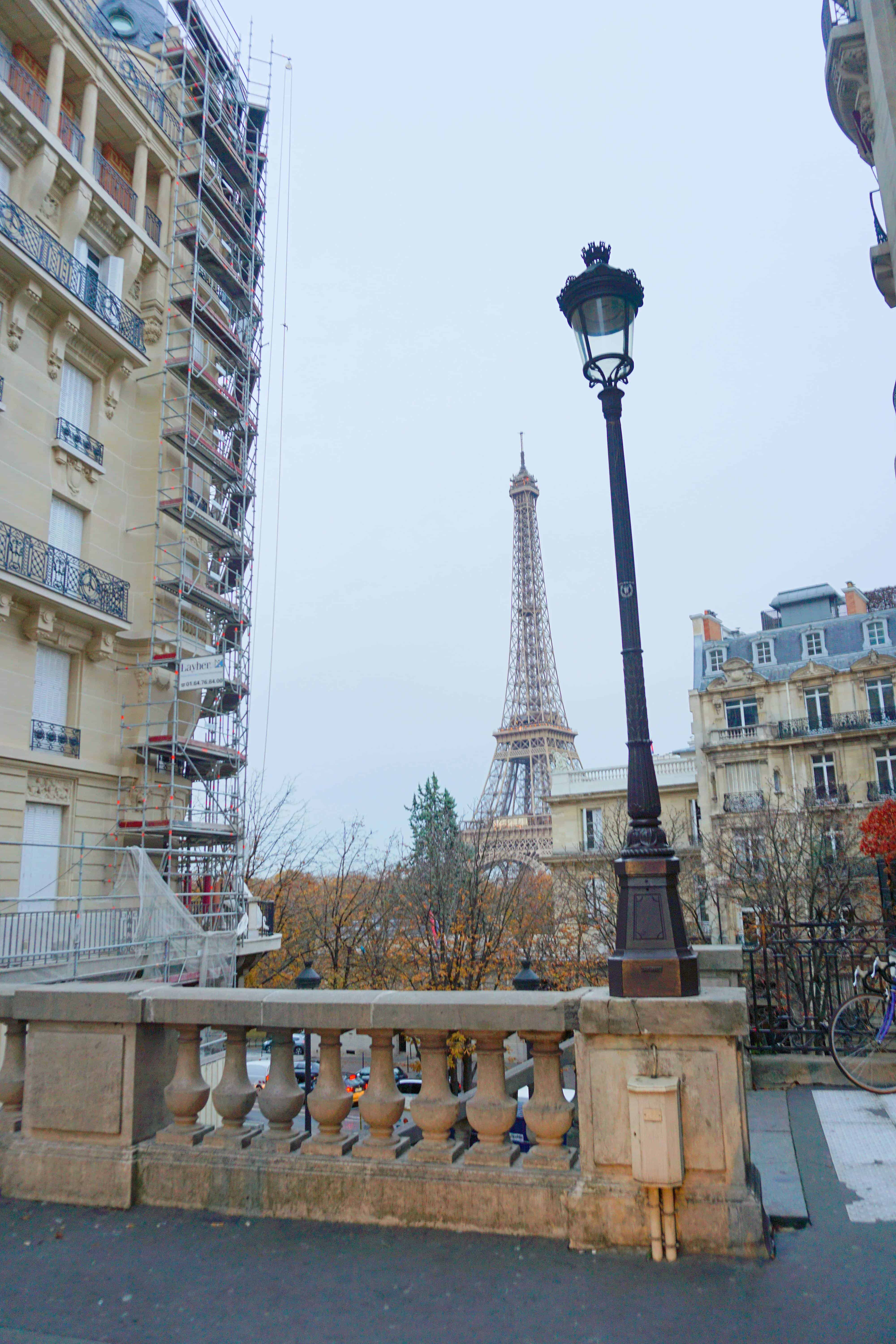 Avenue de Camoens is one of the cutest streets in Paris for a view of the Eiffel Tower