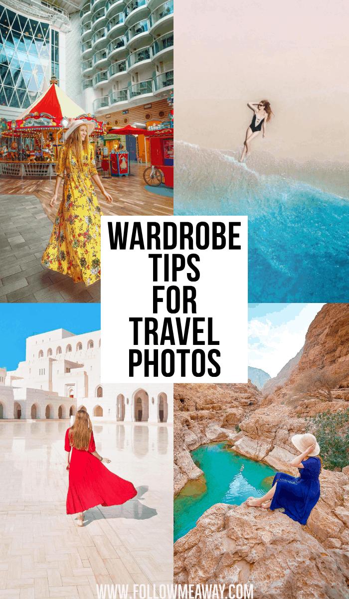 wardrobe tips for travel photos