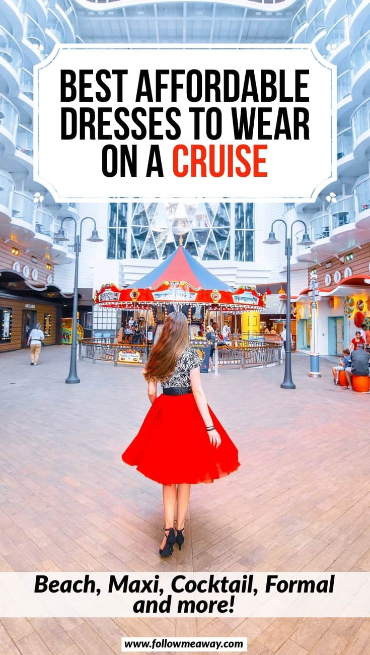 Best Affordable Cruise Dresses From Casual To Cocktail | cruise packing list | what to pack on a cruise | best dresses to wear on a cruise | how to plan your cruise outfits | what to pack for a cruise for dresses and cocktail hour
