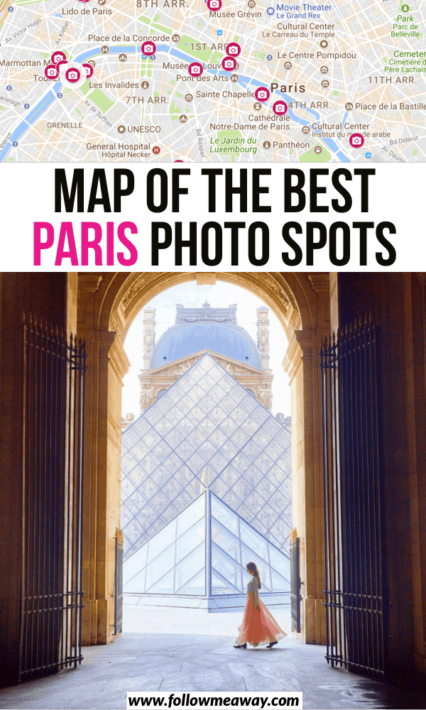 map of the best paris photo spots