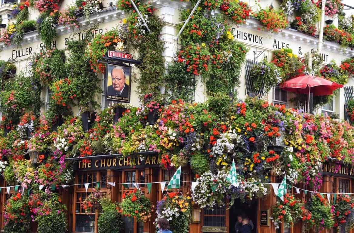 Churchill Arms is the best London photography location   most Instagrammable places in London