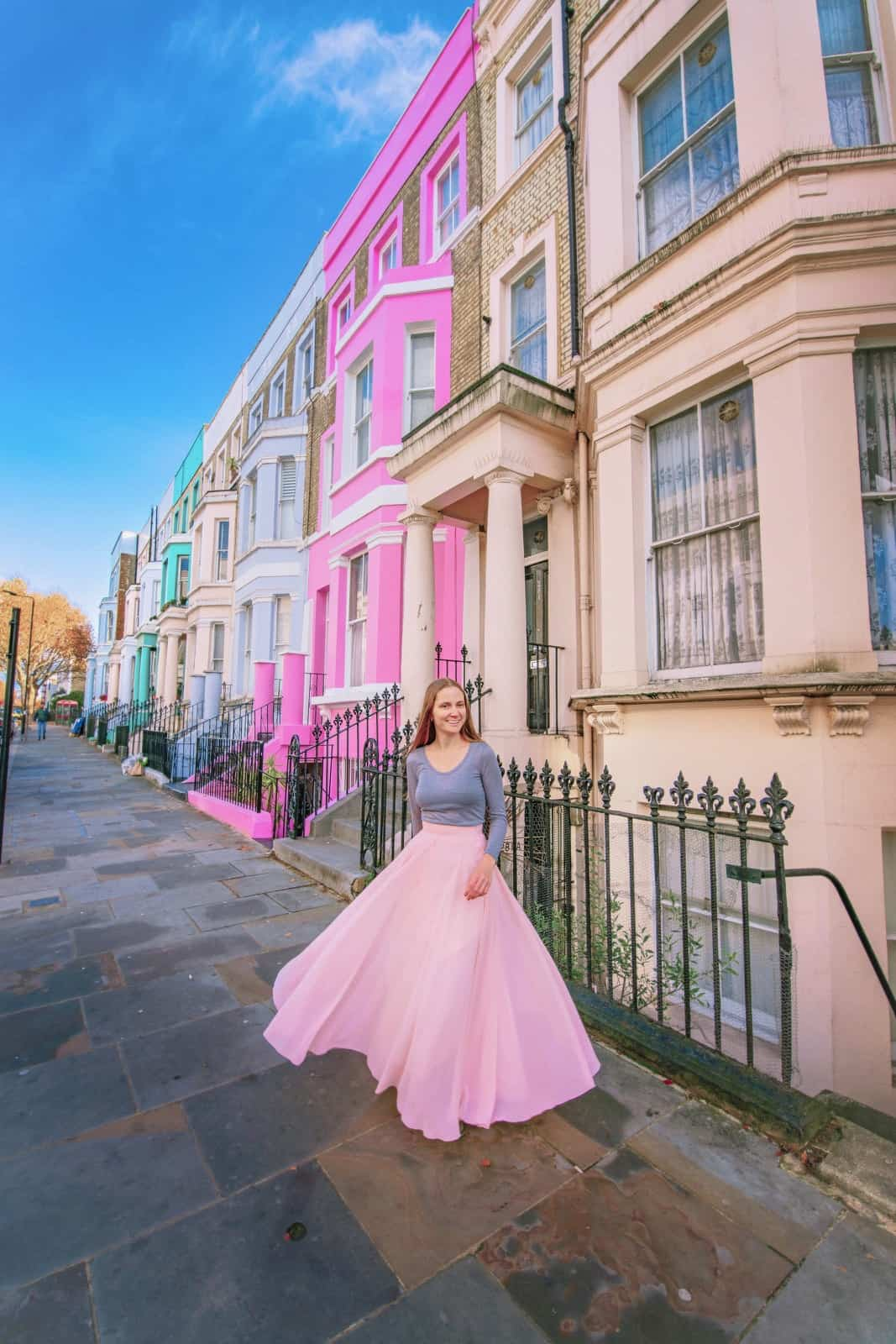 Colorful Notting Hill houses make for some great Instagram spots in London   Instagrammable places in London   london photography locations