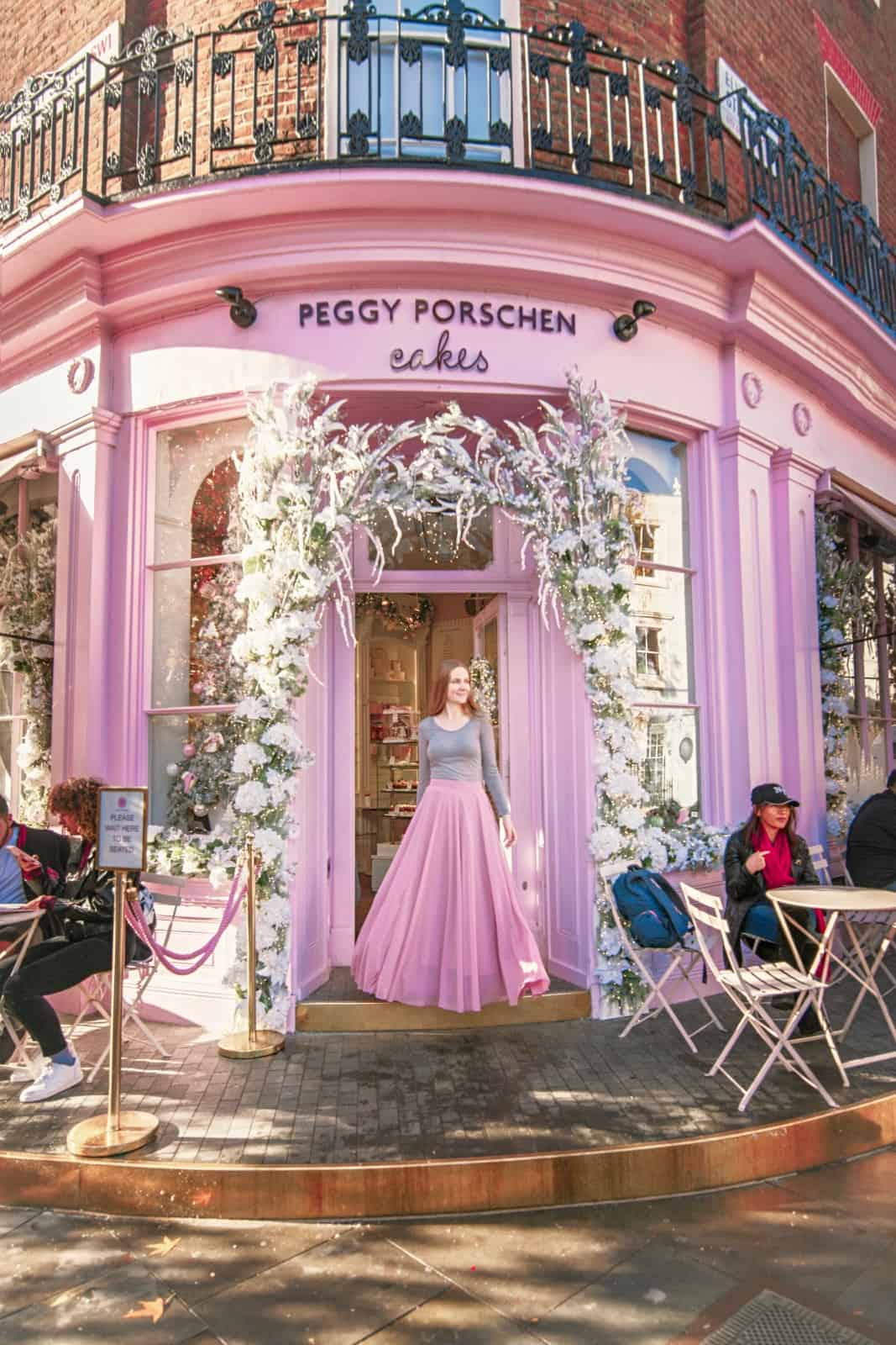 Peggy Porschen Cakes is one of the prettiest Instagrammable places in London