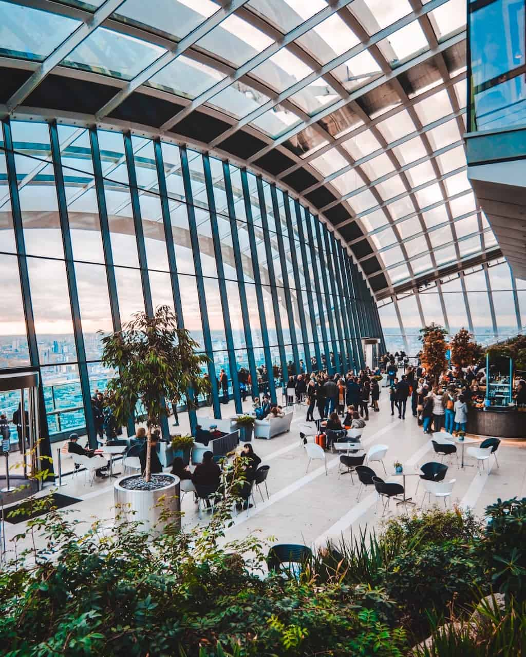 The Skygarden is one of the most Instagrammable places in London