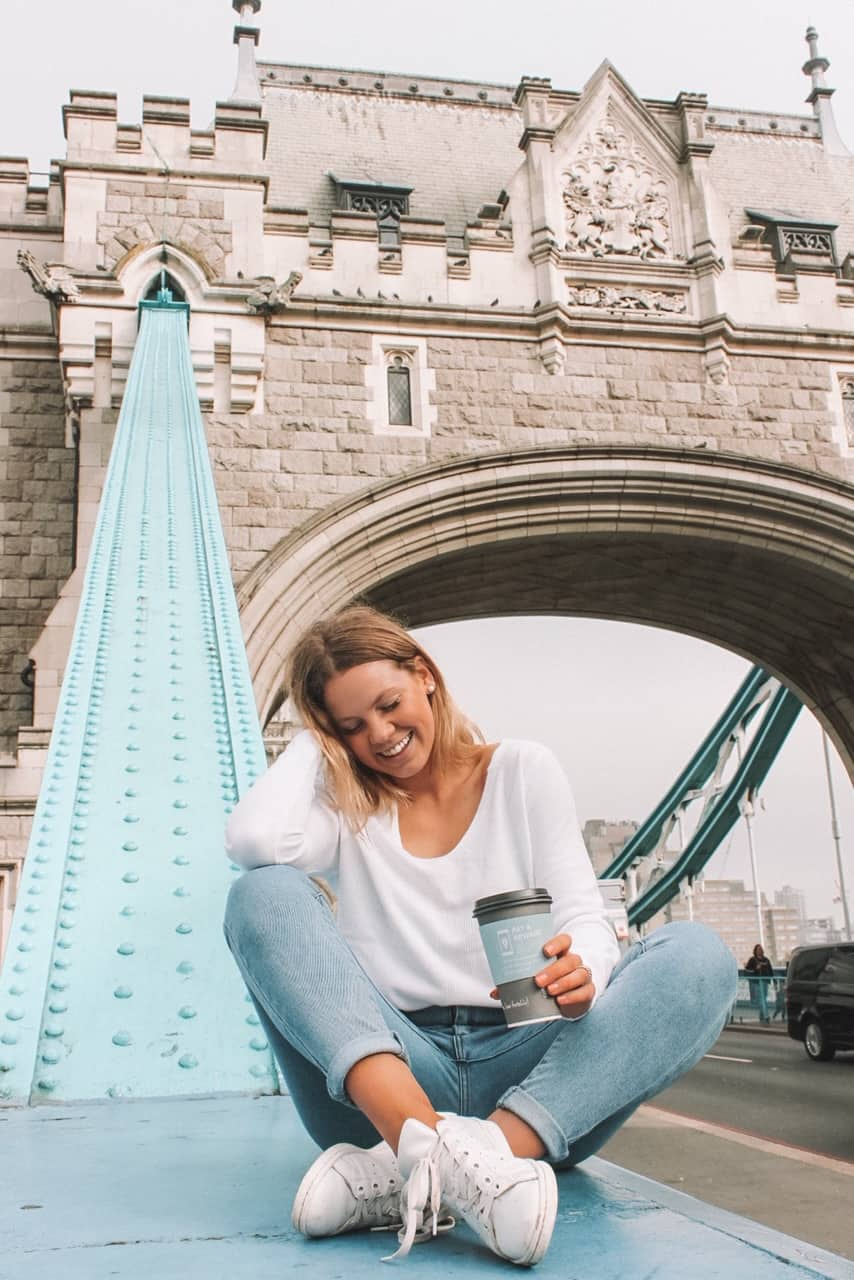 From on top of Tower bridge makes for a great Instagrammable places in London