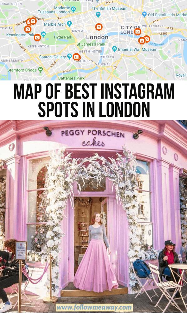 map of best instagram spots in london