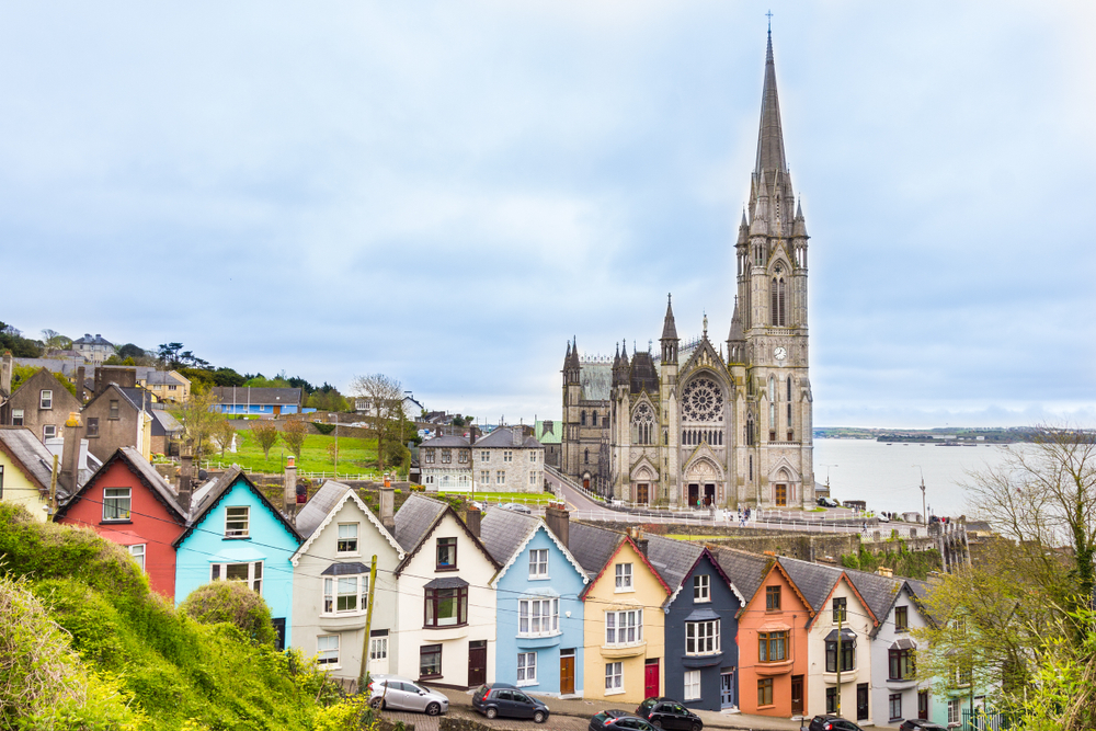 See the colorful houses and gorgeous cathedral while in Cobh