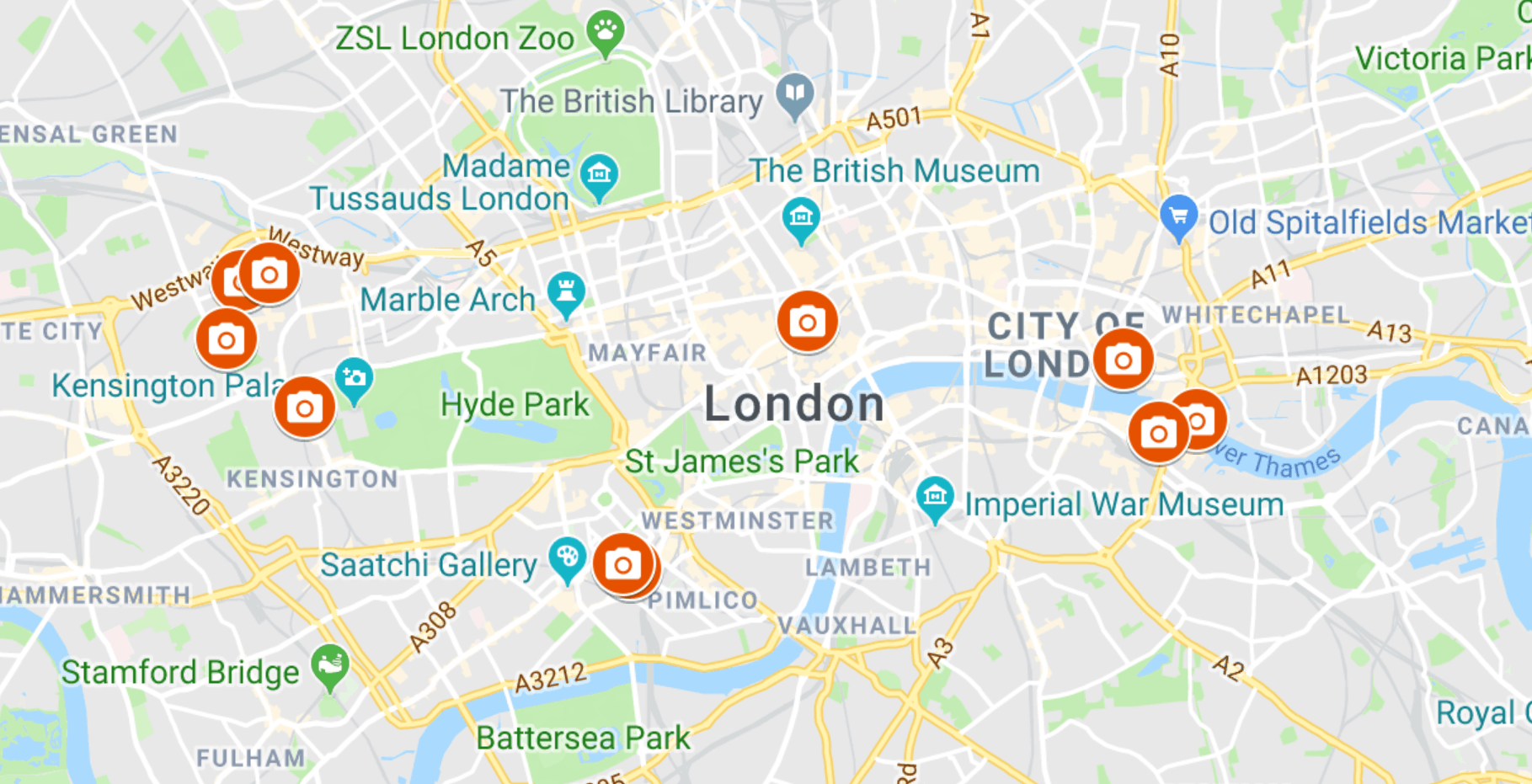 Map of the most Instagrammable places in London you must see