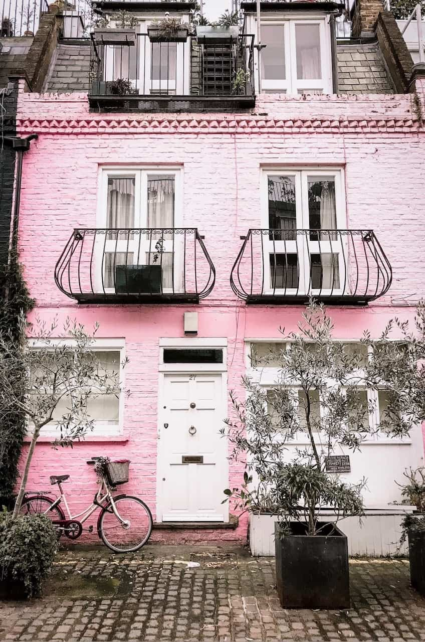 The pink house in St Lukes Mews is one of the most Instagrammable places in London