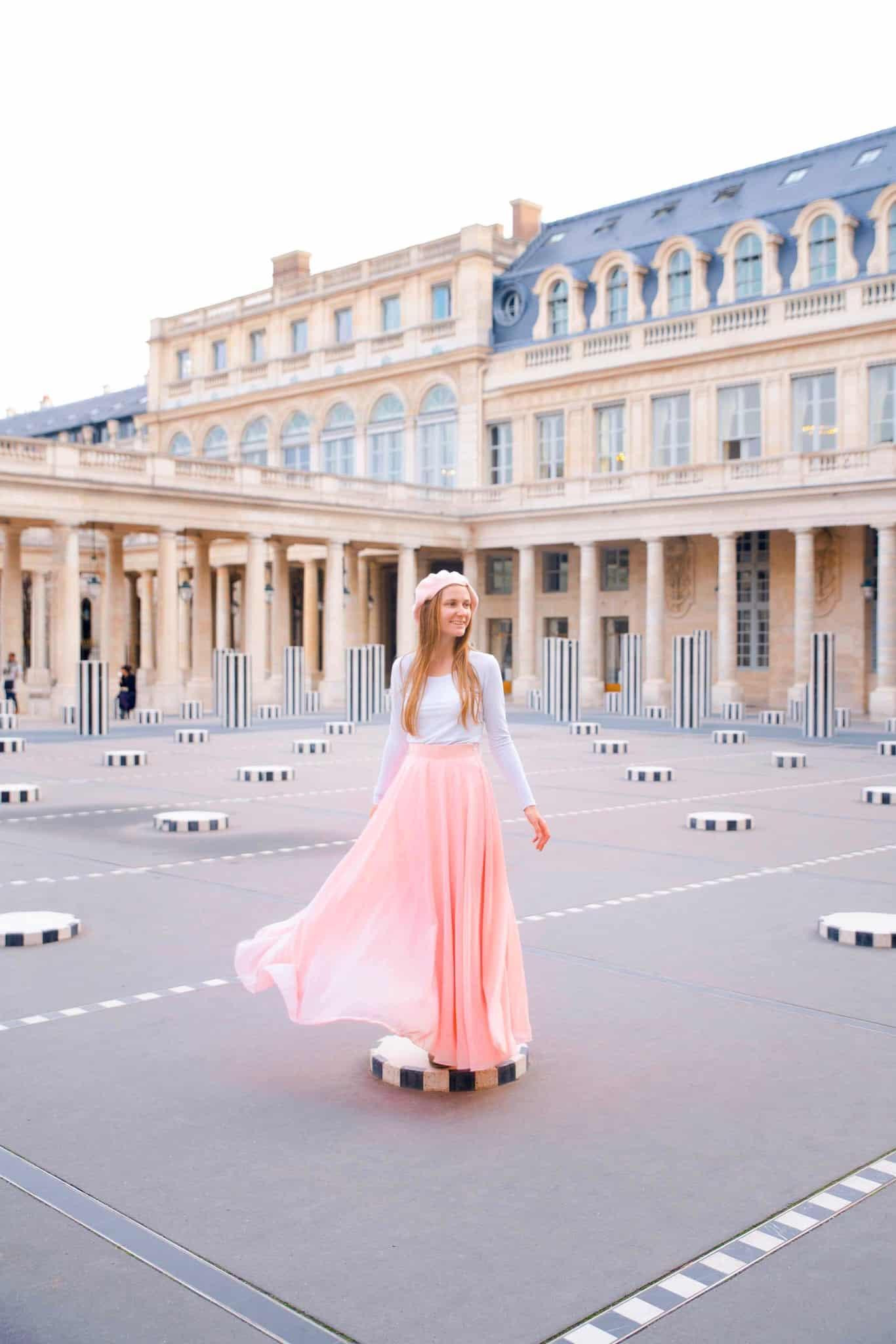 Colonnes de Buren is one of the most beautiful places in paris