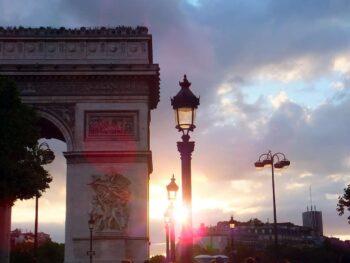 The Arc De Triumph is a great Paris sunrise spot