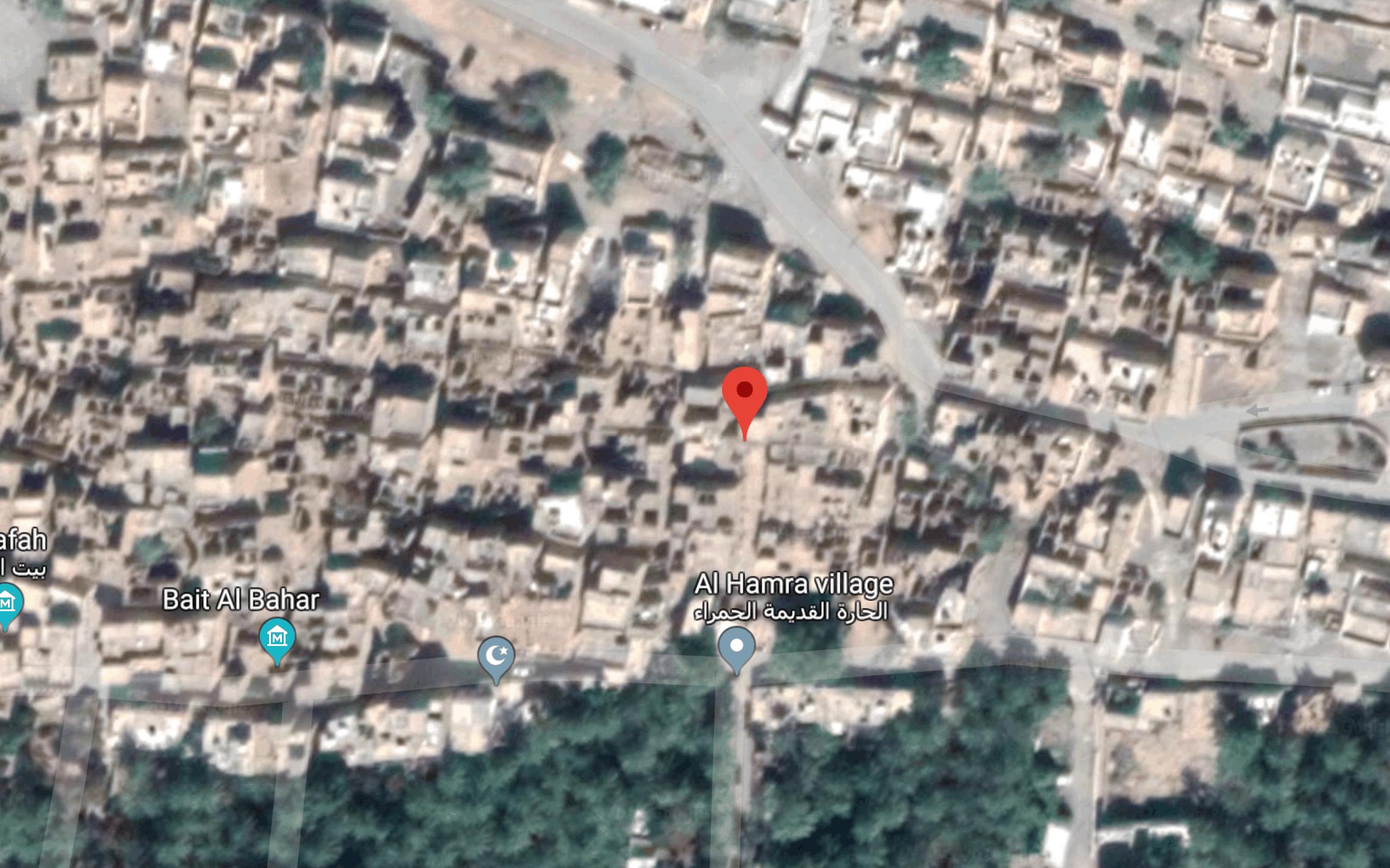 Google Map View Of Al Hamra Oman Ruins