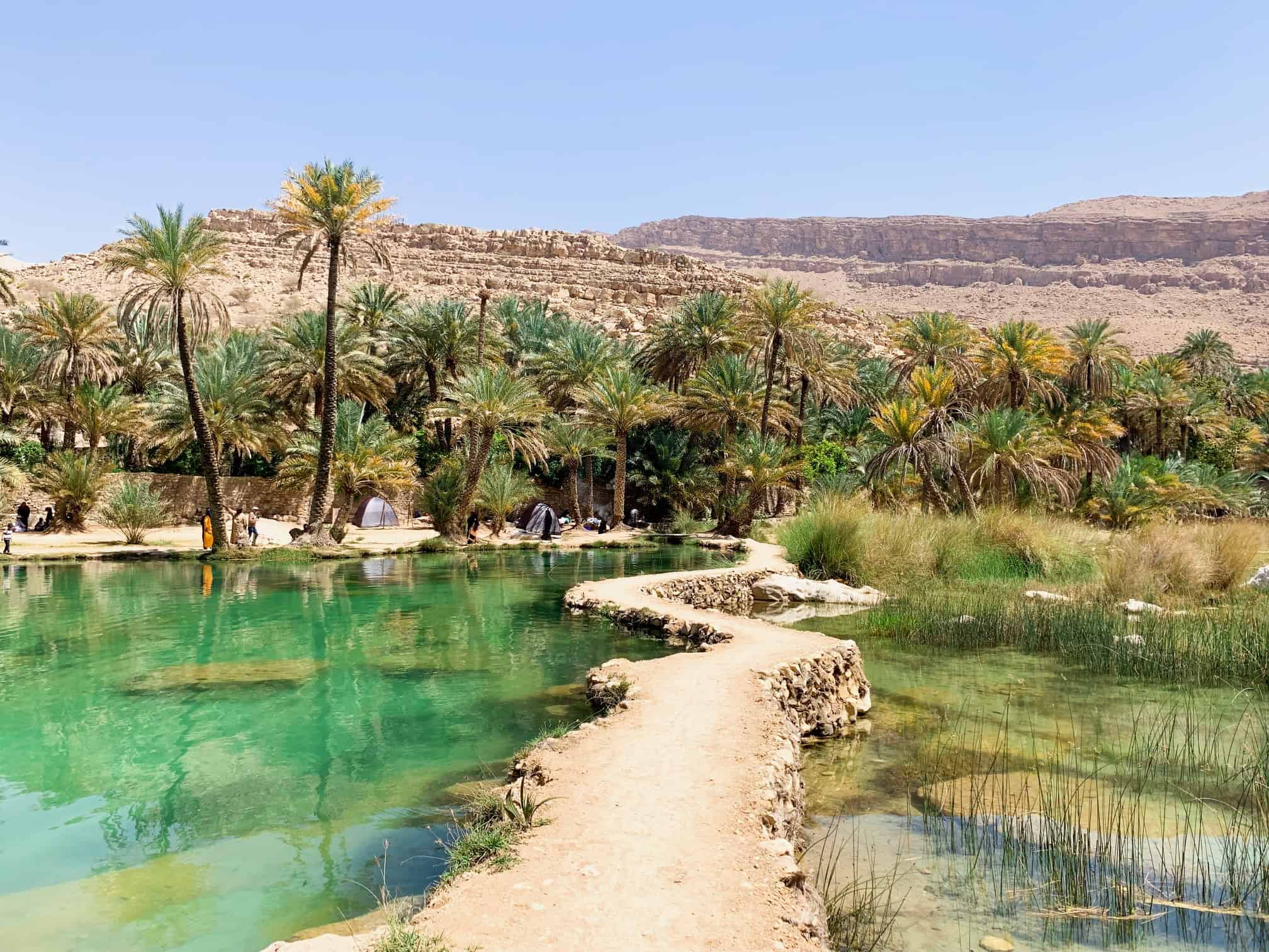 Fun pathway at Wadi Bani Khalid