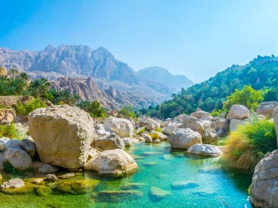 Wadi Tiwi Oman Blue pools
