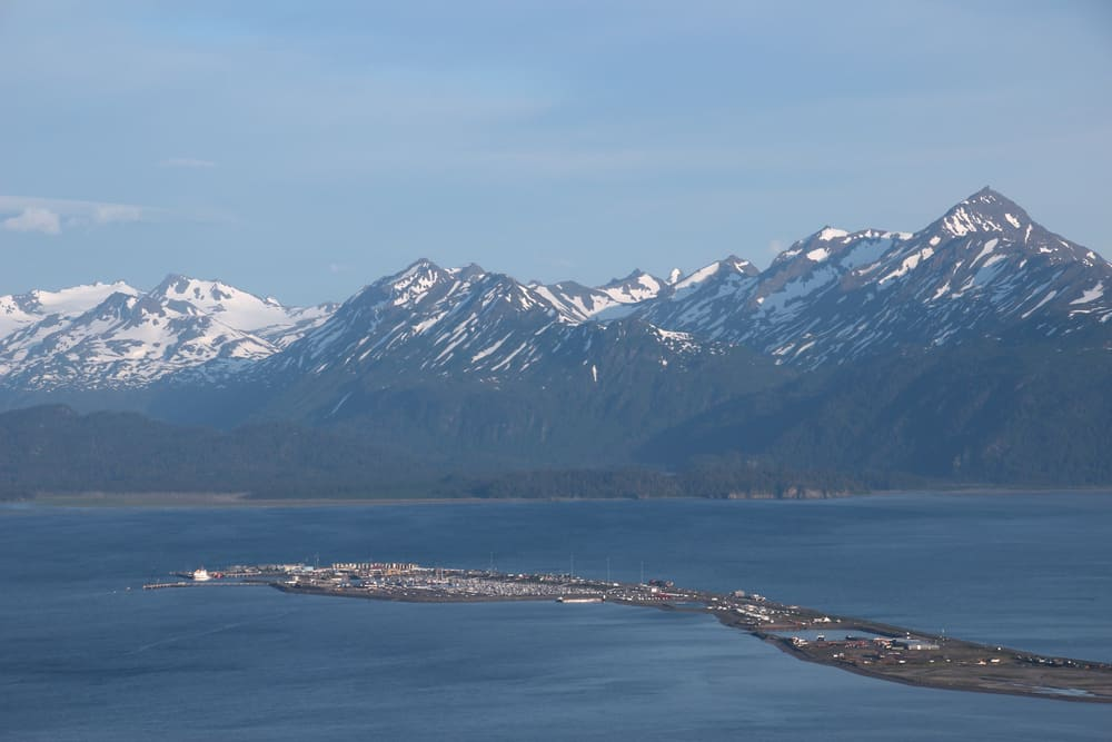 View of the homer spit in Alaska