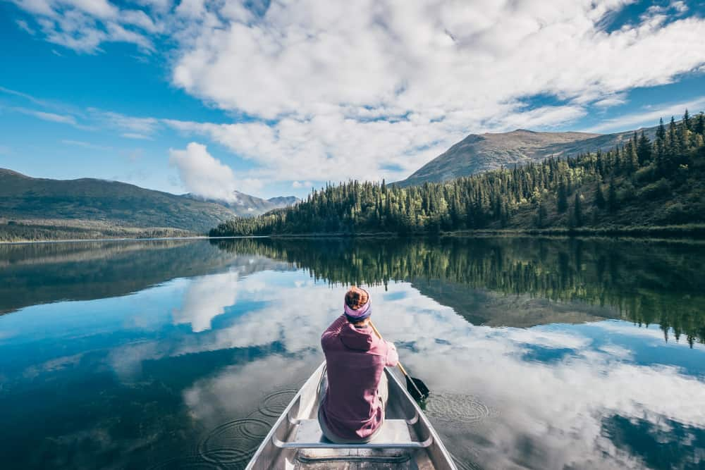 girl on Canoe in Alaska
