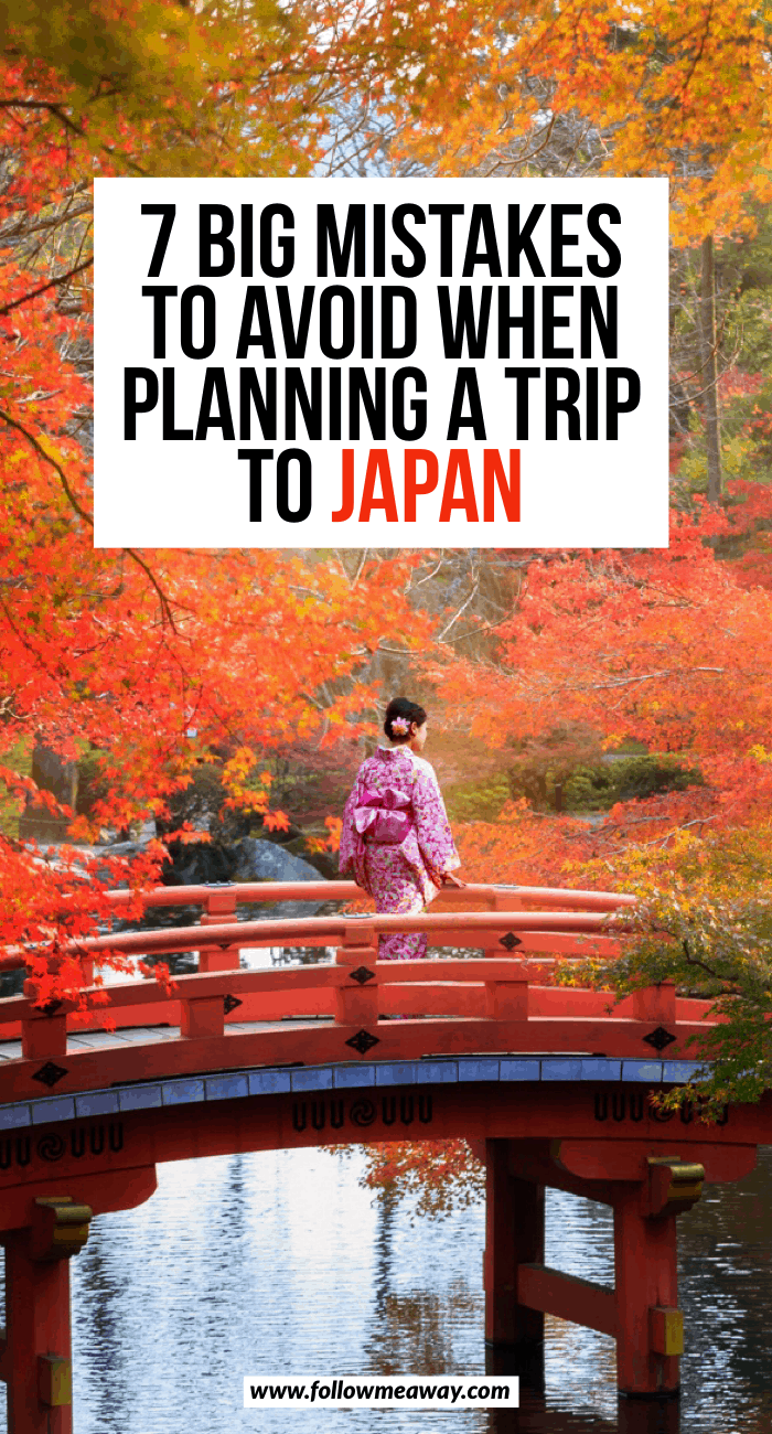 Mistakes to avoid when planning a trip to Japan