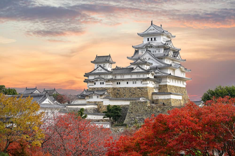 Stunning white castle in Japan