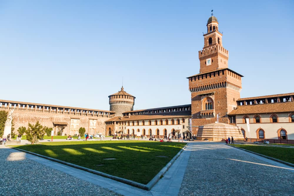 If you love castles, Castle Sforza is a must see on your one day in Milan.