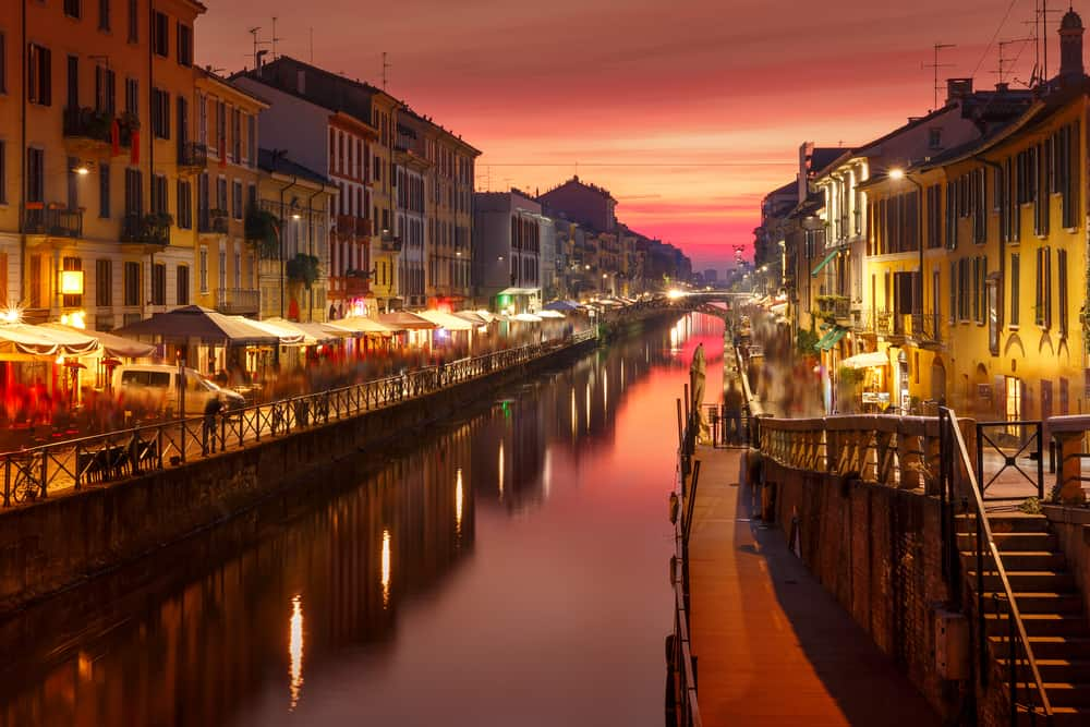 The Navigli District is a hot spot for your one day in Milan