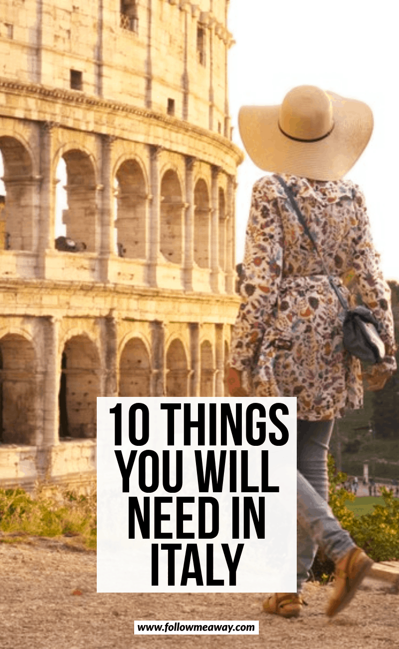 10 things you will need in italy