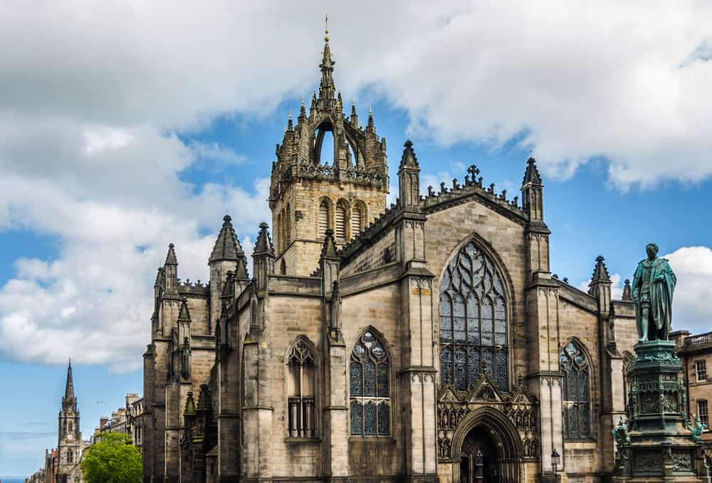 You can't miss beautiful St. Giles' Cathedral in a weekend in Edinburgh