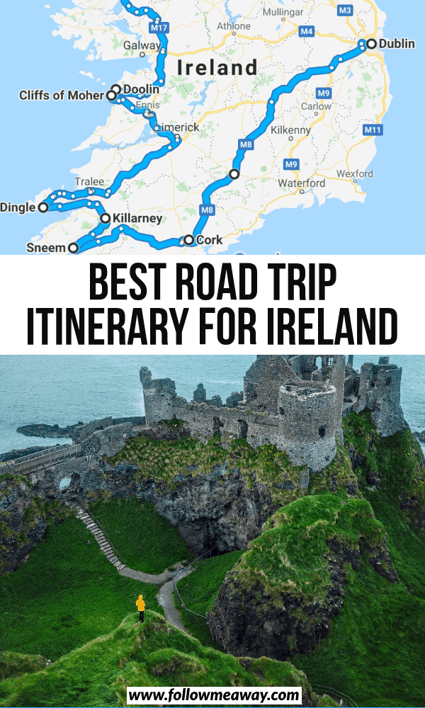 best road trip itinerary for ireland