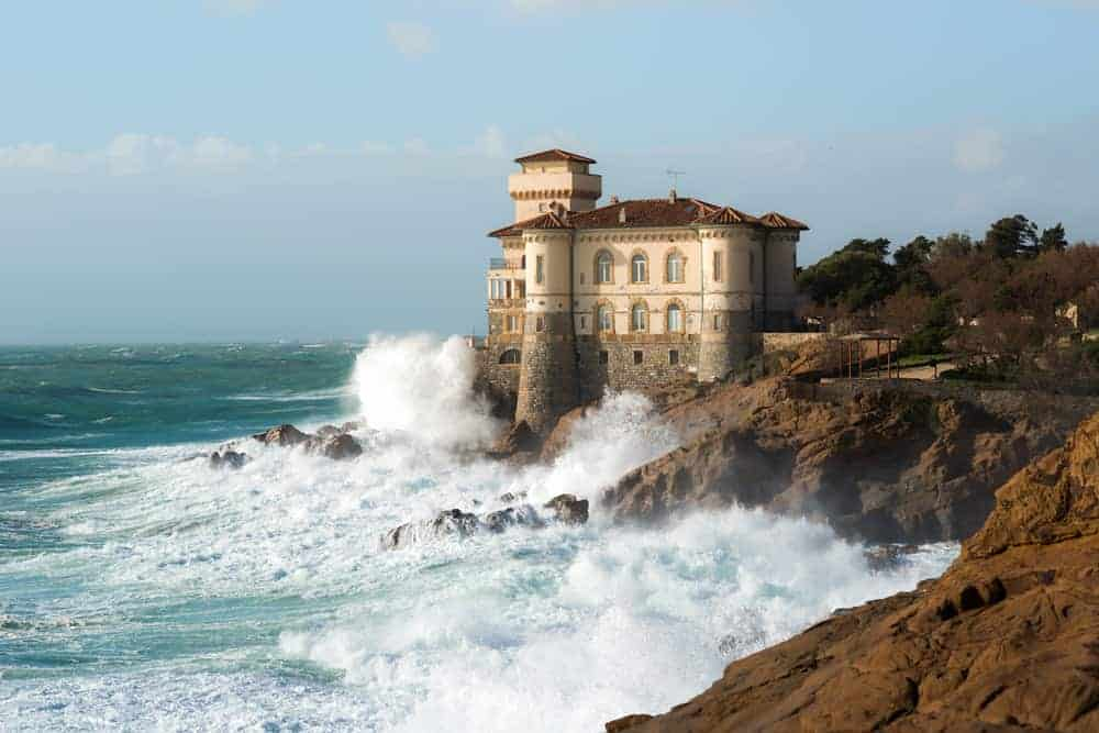 Sitting on the edge of a small cliff, Castello del Boccale is an epic castle in Tuscany