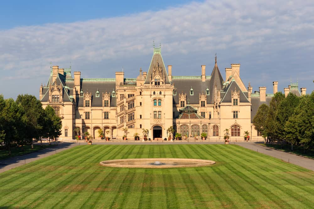 Photo of the exterior of Biltmore Estate, a grand American castle