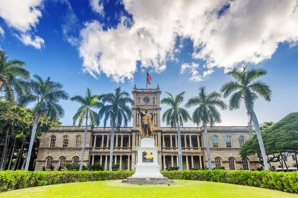 Iolani Palace is the only true royal castle in America