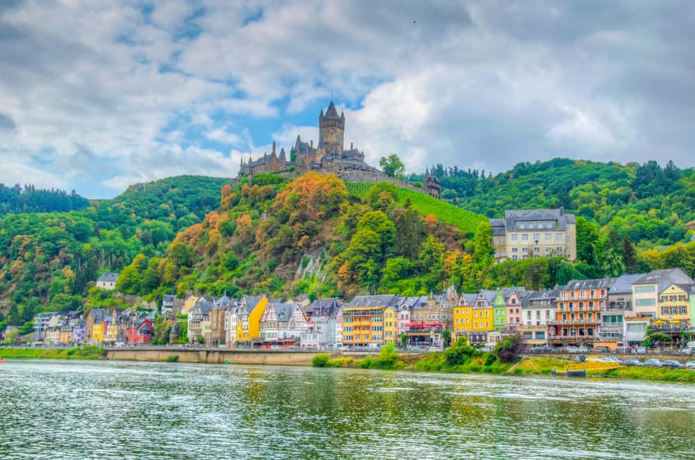 Cochem Castle is like many castles in Germany and sits on a hilltop overlooking the Moselle River and the quaint town of Cochem
