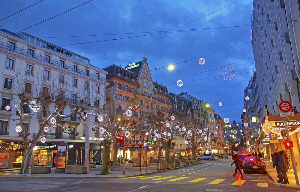 Walk through the dazzling lights at one of the most beautiful Christmas markets in Switzerland