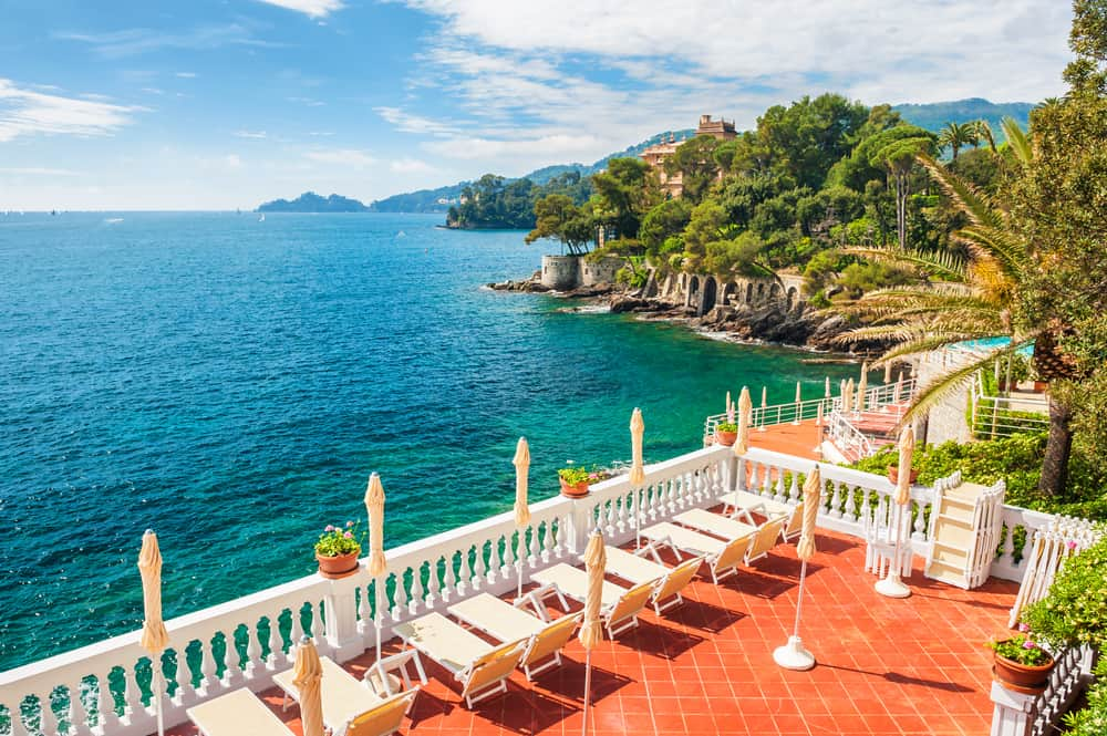 hotel overlooking the sea in italy
