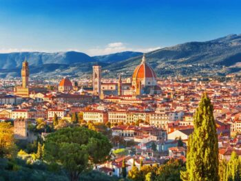 The Piazzale Michelangelo offers a great panoramic view of the city and is a wonderful stop during your one day in Florence.