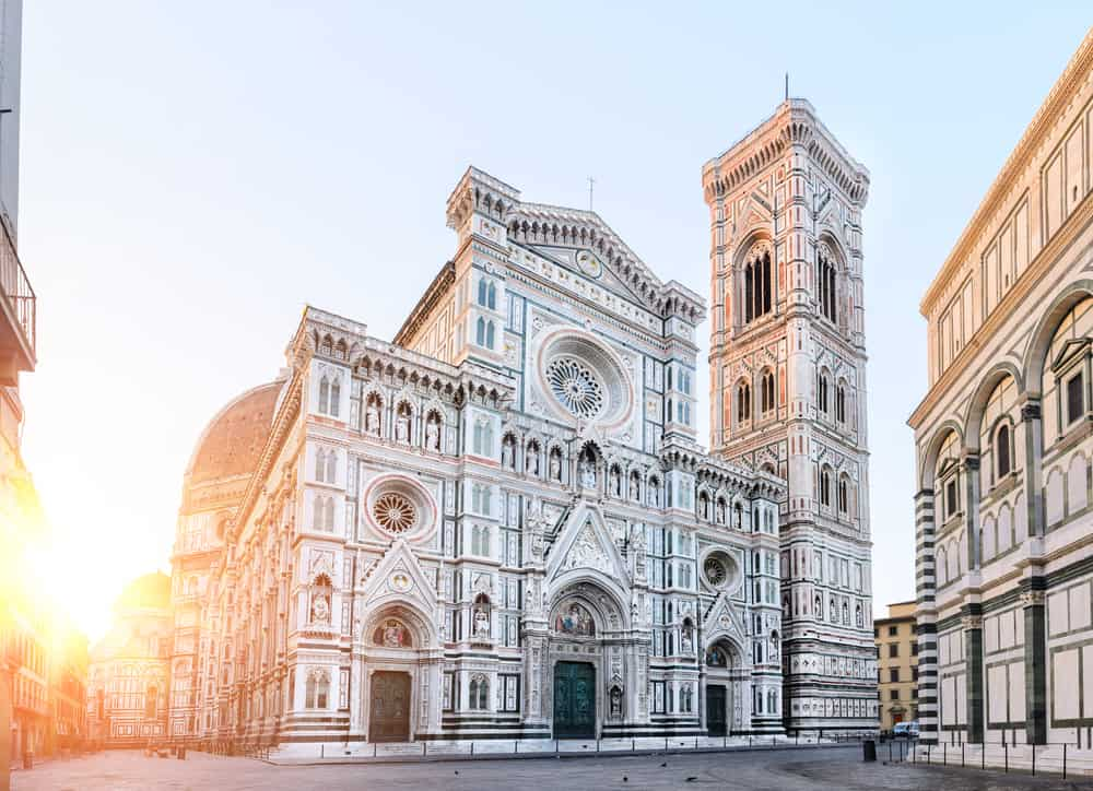 To finish up the Cathedral complex, you must see Giotto's Campanile towering views.