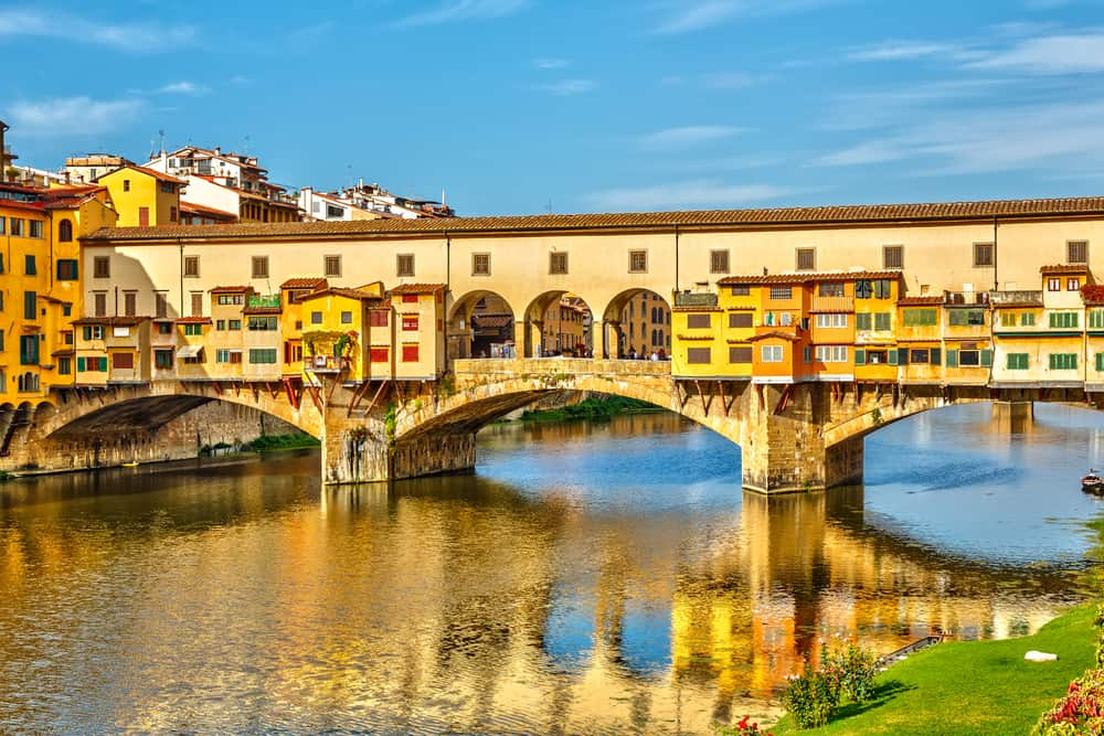 The Ponte Vecchiois a bridge that crosses the Arno river and is filled with shops, making it a must see during your one day in Florence
