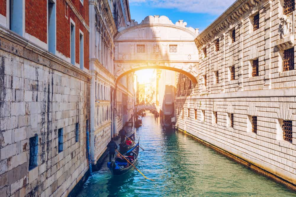The bridge of sighs is a interesting place to visit during one day in venice