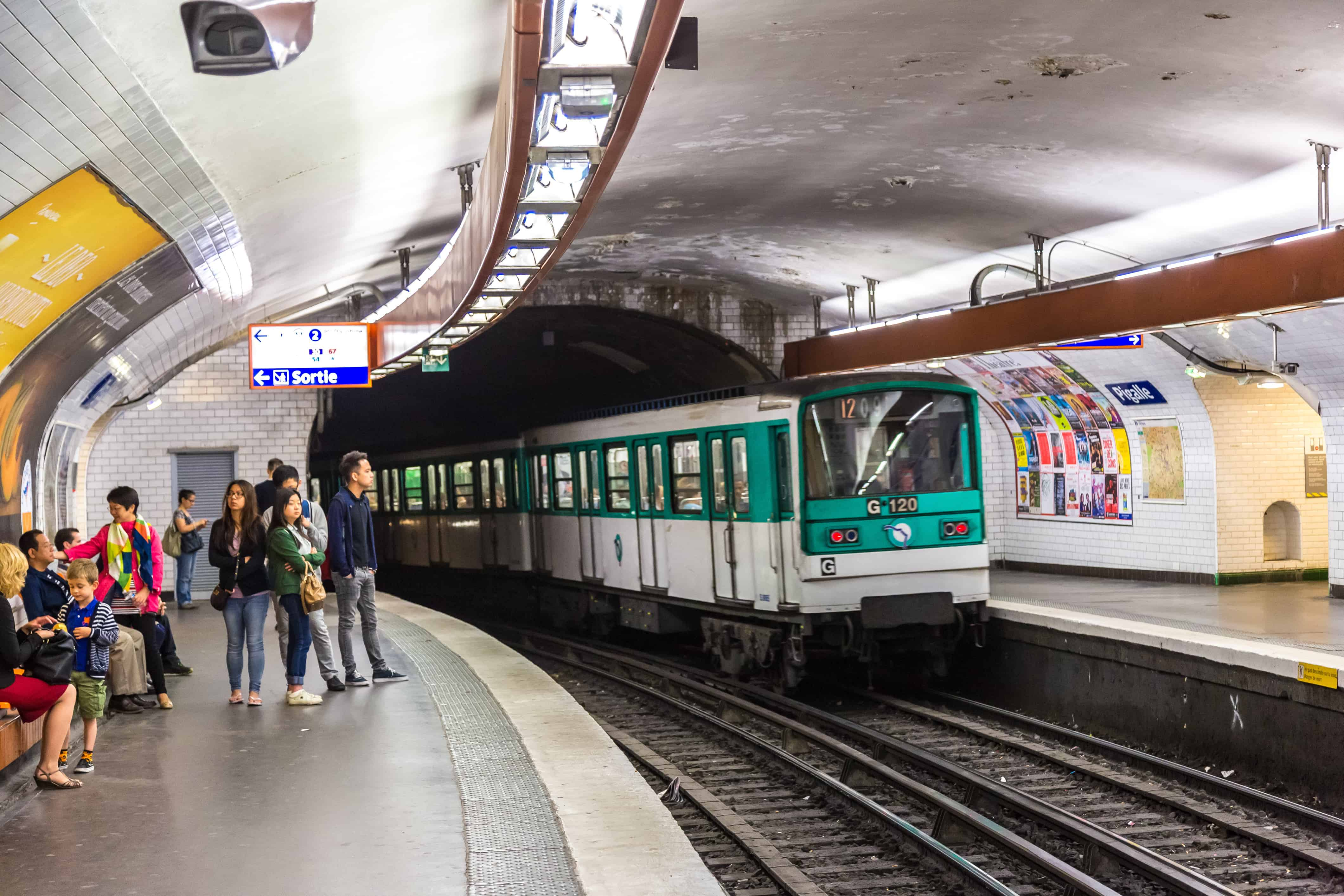 photo of Paris metro stations at rush hour