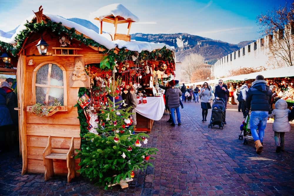 A cute kiosk at the Trento, Italy Christmas Market