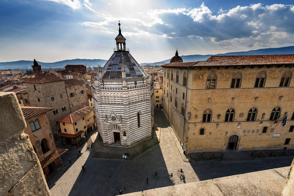 Pistoia baptistry which you can see on your Tuscany Road Trip